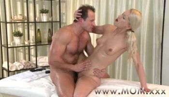 Blonde whore Kylie Knight riding cock and getting thrusted hard missionary position