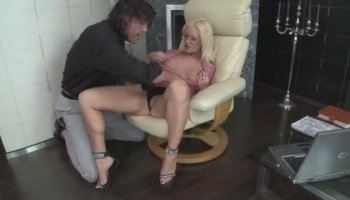 Caroline Ray getting face fucked by big cock
