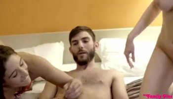 Hotty acquires cumshot on her tits with pleasure