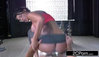 Thick and chubby brunette Holly West takes a long ride